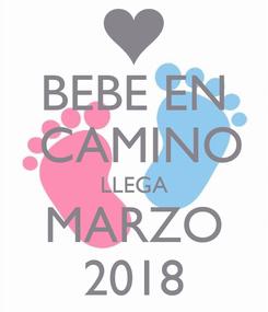 Poster: BEBE EN  CAMINO LLEGA MARZO 2018