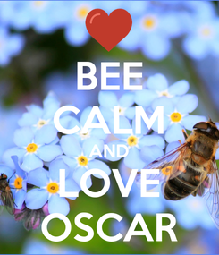 Poster: BEE CALM AND LOVE OSCAR