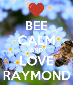 Poster: BEE CALM AND LOVE RAYMOND