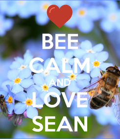Poster: BEE CALM AND LOVE SEAN
