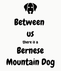 Poster: Between  us there is a Bernese Mountain Dog