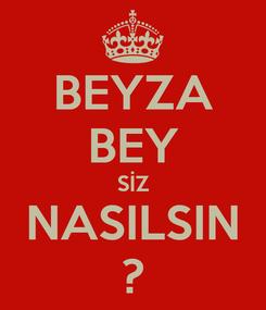 Poster: BEYZA BEY SİZ NASILSIN ?