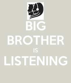 Poster: BIG BROTHER IS LISTENING