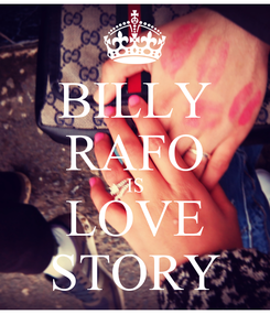 Poster: BILLY RAFO IS LOVE STORY