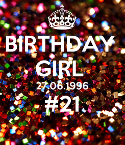 Poster: BIRTHDAY  GIRL  27.06.1996 #21