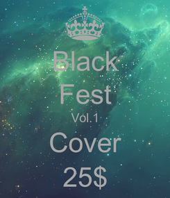 Poster: Black Fest Vol.1 Cover 25$