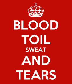 Poster: BLOOD TOIL SWEAT AND TEARS