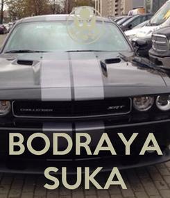 Poster:    BODRAYA SUKA