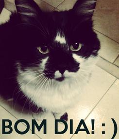 Poster:     BOM DIA! : )