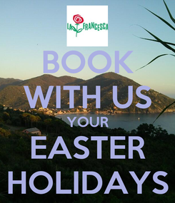 Poster: BOOK WITH US YOUR EASTER HOLIDAYS