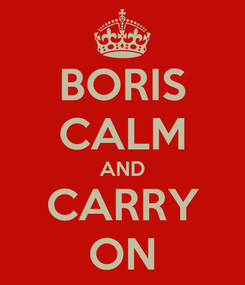 Poster: BORIS CALM AND CARRY ON