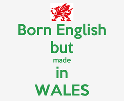 Poster: Born English but  made  in WALES