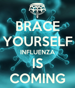 Poster: BRACE YOURSELF INFLUENZA IS COMING