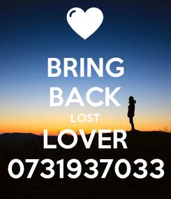Poster: BRING BACK LOST LOVER 0731937033