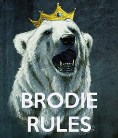 Poster:    BRODIE RULES