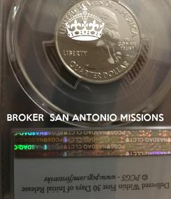 Poster:   BROKER  SAN ANTONIO MISSIONS