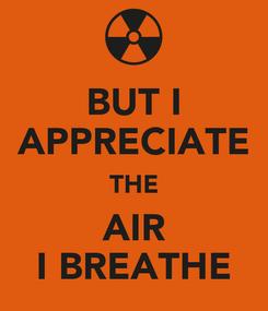 Poster: BUT I APPRECIATE THE AIR I BREATHE