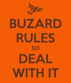 Poster: BUZARD RULES SO DEAL WITH IT
