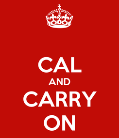Poster:  CAL AND CARRY ON