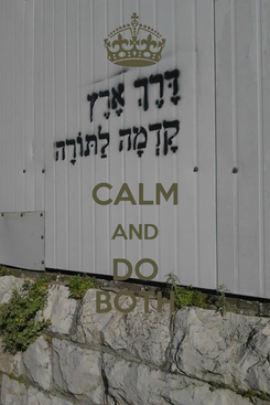 Poster:  CALM AND DO BOTH