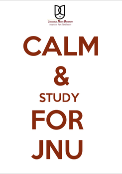 Poster: CALM & STUDY  FOR  JNU