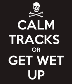 Poster: CALM TRACKS  OR GET WET UP
