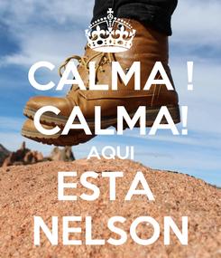 Poster: CALMA ! CALMA! AQUI ESTA  NELSON