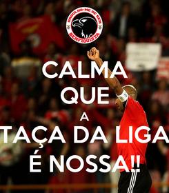 Poster: CALMA QUE A TAÇA DA LIGA É NOSSA!!
