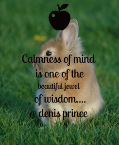 Poster: Calmness of mind  is one of the beautiful jewel  of wisdom.... @ denis prince