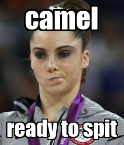 Poster: camel ready to spit