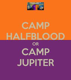 Poster: CAMP HALFBLOOD OR CAMP JUPITER