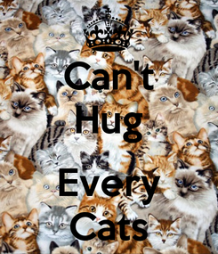Poster: Can't Hug  Every Cats
