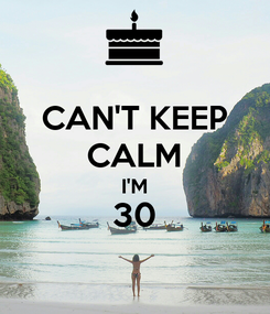 Poster: CAN'T KEEP CALM I'M 30