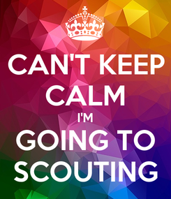 Poster: CAN'T KEEP CALM I'M GOING TO SCOUTING