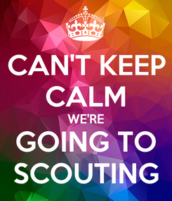 Poster: CAN'T KEEP CALM WE'RE GOING TO SCOUTING