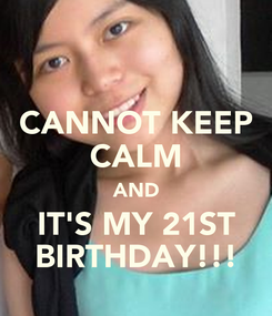 Poster: CANNOT KEEP CALM AND IT'S MY 21ST BIRTHDAY!!!
