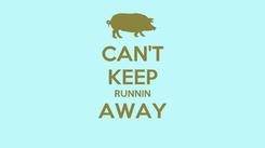Poster: CAN'T KEEP RUNNIN AWAY