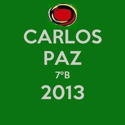 Poster: CARLOS PAZ 7ºB 2013