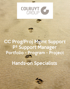 Poster: CC Prog/Proj Mgmt Support P³ Support Manager Portfolio - Program - Project  Hands-on Specialists