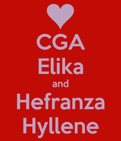 Poster: CGA Elika and Hefranza Hyllene