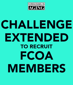 Poster: CHALLENGE EXTENDED TO RECRUIT FCOA MEMBERS