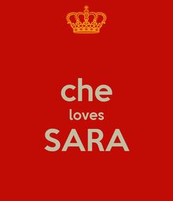 Poster:  che loves SARA