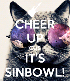Poster: CHEER UP CUS IT'S SINBOWL!