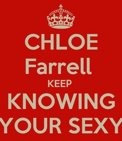 Poster: CHLOE Farrell  KEEP  KNOWING YOUR SEXY