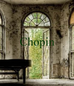 Poster:  Chopin