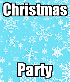 Poster: Christmas Party