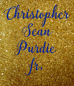 Poster: Christopher Sean Purdie Jr.