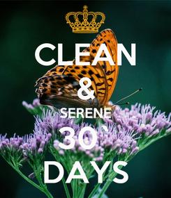 Poster: CLEAN & SERENE 30` DAYS
