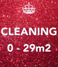 Poster:  CLEANING  0 - 29m2