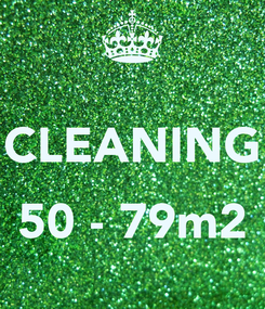 Poster:  CLEANING  50 - 79m2
